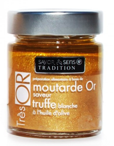 Moutarde saveur truffe très'or